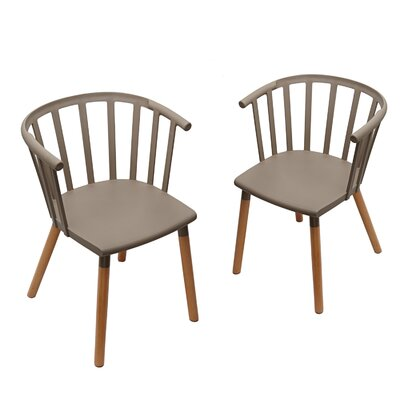 Jain Plastic Dining Chair Color: Mild Gray