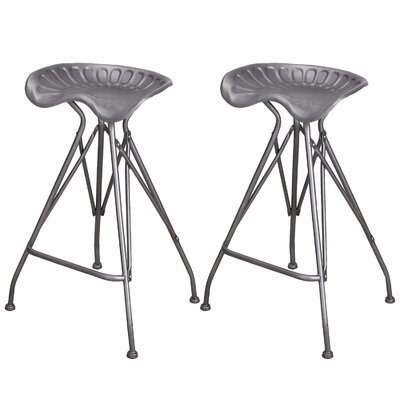 Jodenson 31.5 Bar Stool Color: Steel Natural