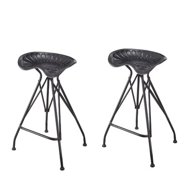 Jodenson 31.5 Bar Stool Color: Black