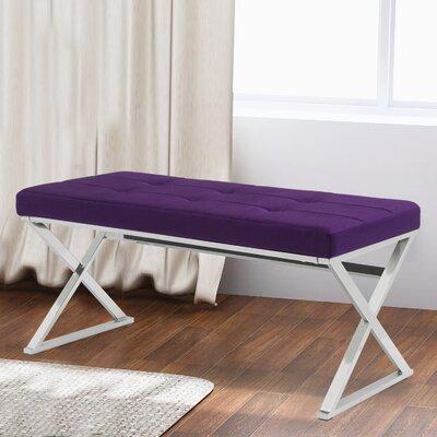 Hansard Upholstered Bench Color: Purple