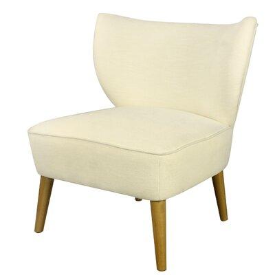 Verret Slipper Chair Upholstery: Cream