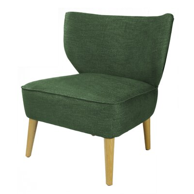 Verret Slipper Chair Upholstery: Blackish Green