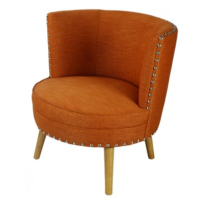 Pheasant Hill Linen Leisure Barrel Chair Upholstery: Orange