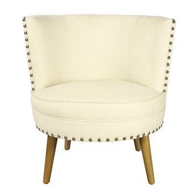 Pheasant Hill Linen Leisure Barrel Chair Upholstery: Cream