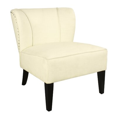 Geraldine Leisure Linen Slipper Chair Upholstery: Cream