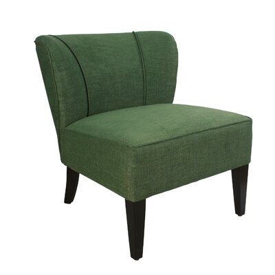Geraldine Leisure Linen Slipper Chair Upholstery: Blackish Green
