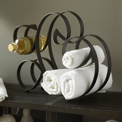 Moroccan Spiral-az 4 Bottle Tabletop Wine Rack