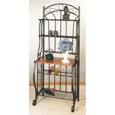 Old Dutch Copper Bakers Rack w/ Wine Rack