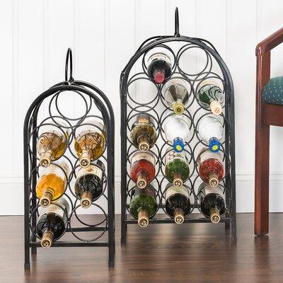 Nesting Matte 2 Piece 21 Bottle Floor Wine Rack Set