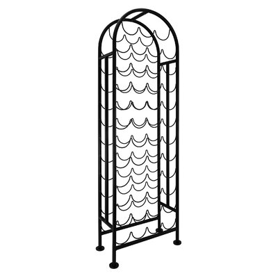 47 Bottle Floor Wine Bottle Rack Finish: Matte Black