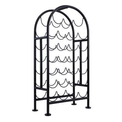 27 Bottle Floor Wine Bottle Rack Finish: Matte Black
