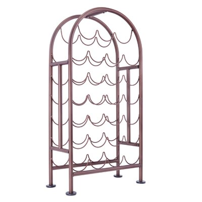 27 Bottle Floor Wine Bottle Rack Finish: Oiled Bronze
