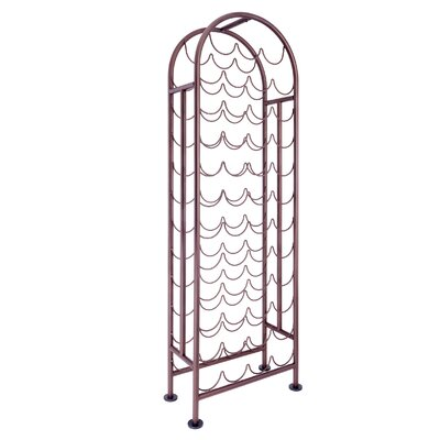 47 Bottle Floor Wine Bottle Rack Finish: Oiled Bronze