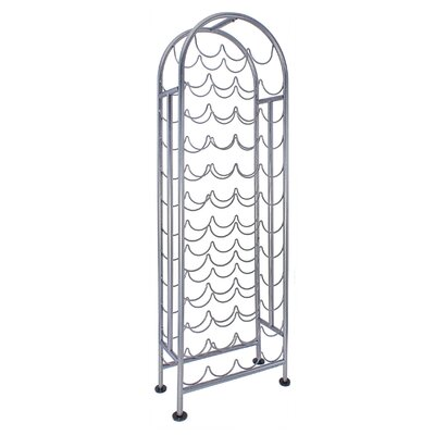 47 Bottle Floor Wine Bottle Rack Finish: Antique Pewter