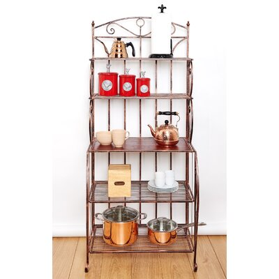 Saddlebrook Standard Bakers Rack Finish: Copper/Rosewood