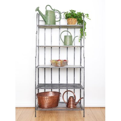 Montclair Standard Bakers Rack Finish: Antique Pewter/Gray