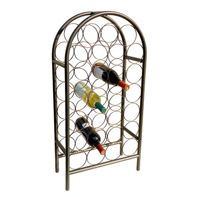 Wyndham Road 27 Bottle Floor Wine Rack Color: Pewter