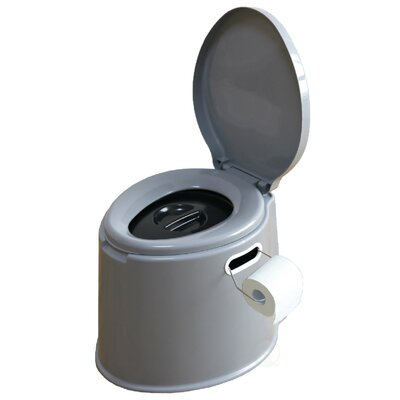 Portable Travel Elongated One-Piece Toilet