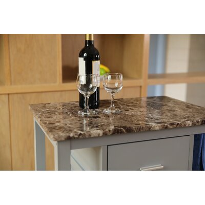 Adaon Kitchen Cart with Granite Top