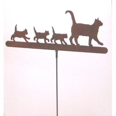 Cat Family Garden Stake 385