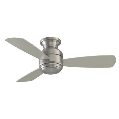 44 Hermilda 3-Blade Ceiling Fan Finish: Brushed Nickel