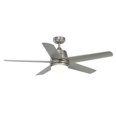 52 Orr 5-Blade Ceiling Fan with Light Kit Finish: Brushed Nickel