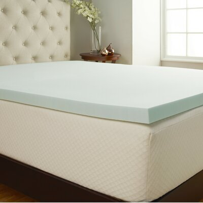 Comfort Tech 2 Serene Foam Mattress Topper Size: Twin