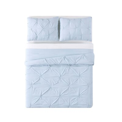 Bolivar Comforter Set Color: Light Blue, Size: King