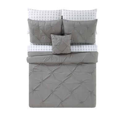 Slavkov Bed Set Size: Full, Color: Gray