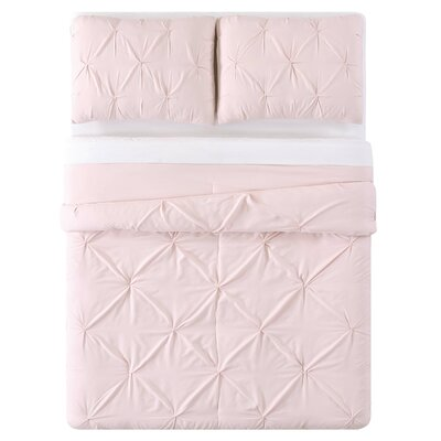 Bolivar Duvet Set Color: Blush, Size: Full/Queen