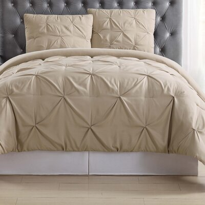 Bolivar Duvet Set Color: Khaki, Size: Full/Queen