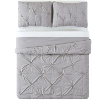 Bolivar Duvet Set Color: Gray, Size: Full/Queen