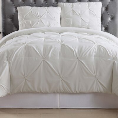 Bolivar Duvet Set Color: Ivory, Size: Full/Queen