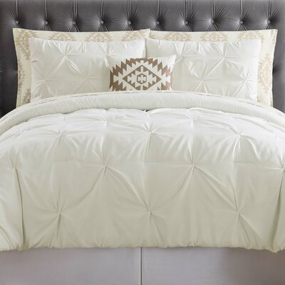Sydney Bed Set Color: Ivory, Size: Full
