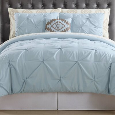 Sydney Bed Set Color: Light Blue, Size: Queen