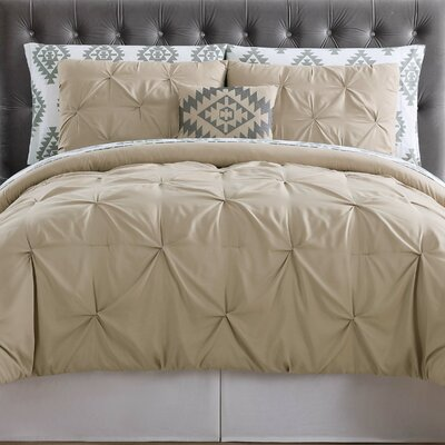 Sydney Bed Set Color: Khaki, Size: Queen