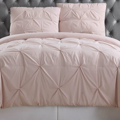 Bolivar Comforter Set Color: Blush, Size: Full/Queen