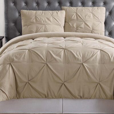 Bolivar Comforter Set Color: Khaki, Size: King