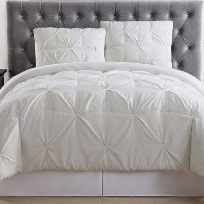 Bolivar Comforter Set Color: Ivory, Size: King