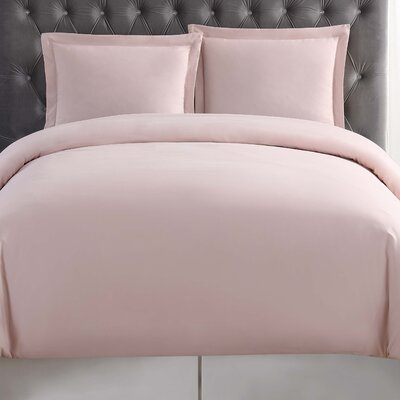 Elettra Duvet Set Size: Twin XL, Color: Blush