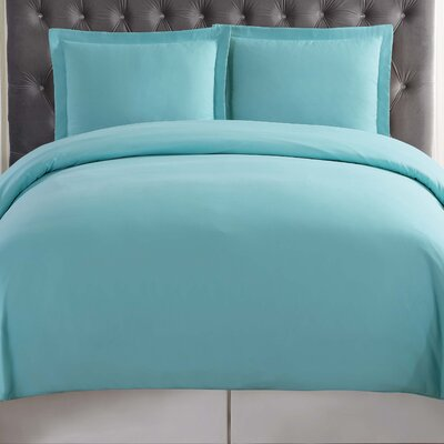 Elettra Duvet Set Size: Twin XL, Color: Turquoise