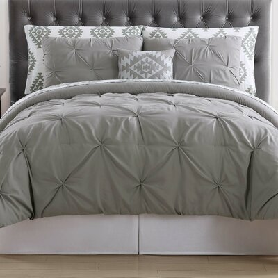 Sydney Bed Set Color: Gray, Size: Queen