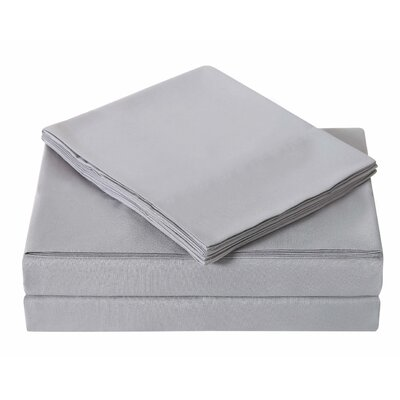 Elisa Kids Solid Sheet Set Size: Twin, Color: Gray
