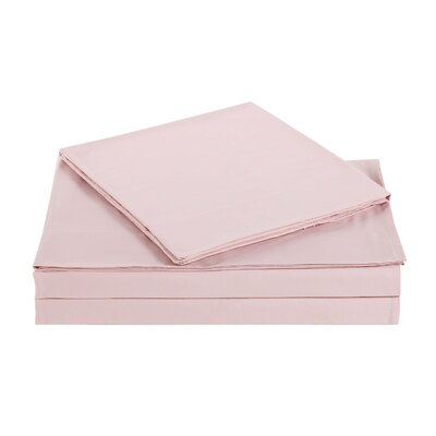 Elisa Kids Solid Sheet Set Size: Full, Color: Blush
