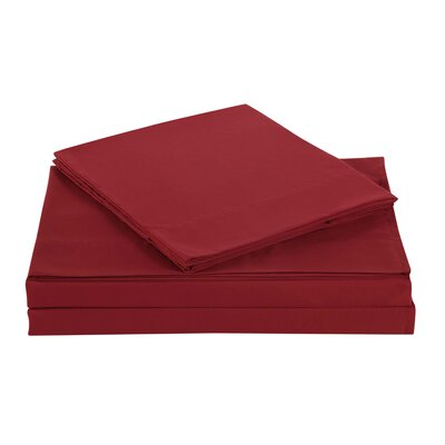 Elisa Kids Solid Sheet Set Size: Twin, Color: Red