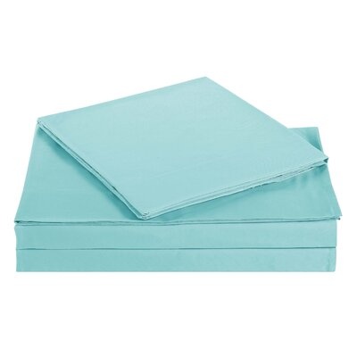 Elisa Kids Solid Sheet Set Size: Full, Color: Turquoise