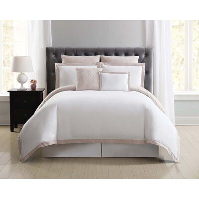 Fishponds 7 Piece Duvet Set Size: King, Color: Blush