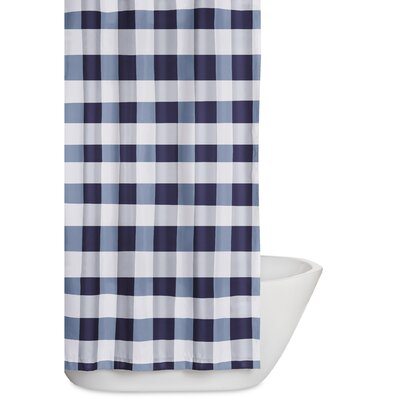 Cathryn Shower Curtain Color: Navy