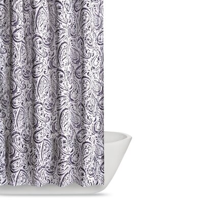 Newburgh Paisley Watercolor Shower Curtain Color: Eggplant