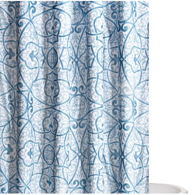 Crowders Shower Curtain Color: Blue